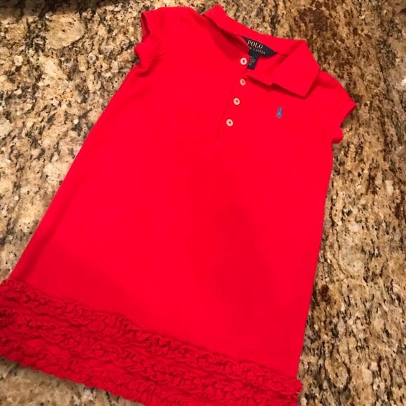 Red Ralph Toddlers 4t Lauren ❤️ Polo Girls Dress lkiOuTwZPX